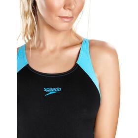 speedo Boom Splice Muscleback Swimsuit Dames, zwart